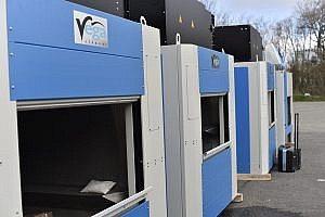 Brand new Vega tumblers standing in Cletic Linen yard